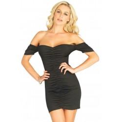 Vestito nero con scollatura