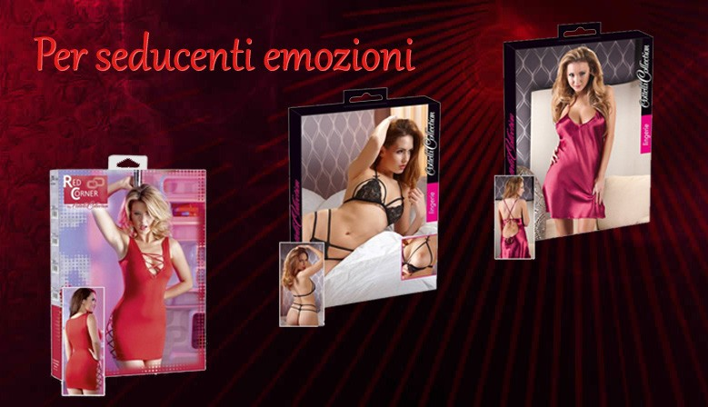Lingerie, abiti sexy, corsetti, calze per serate seducenti ed intriganti