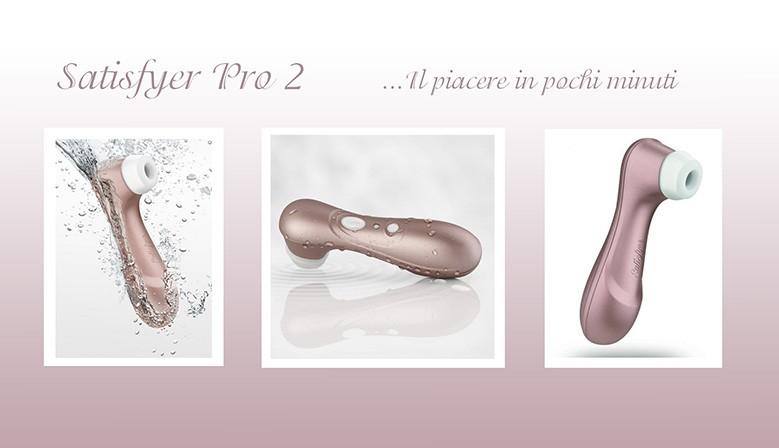 Satisfyer Pro 2 è il masturbatore, un succhia clitoride per il sesso orale femminile, con la sua testina ovale, il suo design leggero e maneggevole e la sua innovativa tecnologia del vuoto , orgasmo in un minuto
