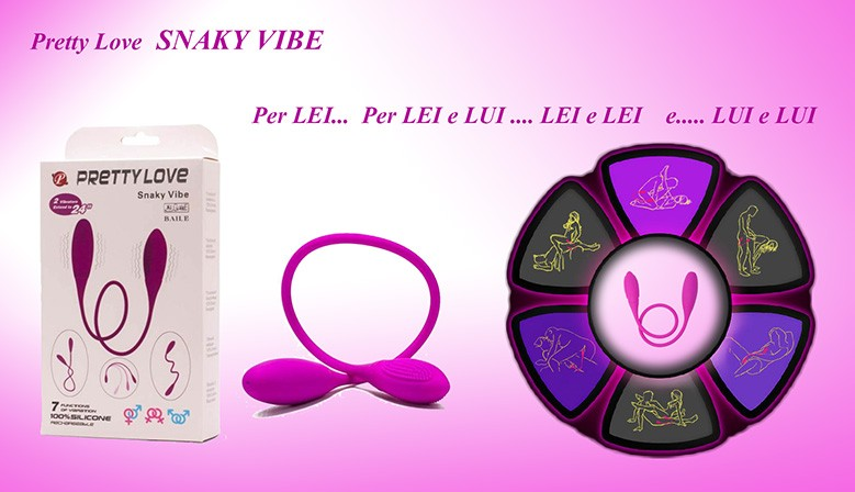 Vibratore Pretty love  SNAKY VIBE  il serpente a doppia testa vibrante ricaricabile clone del Double Ended Vibe PicoBong